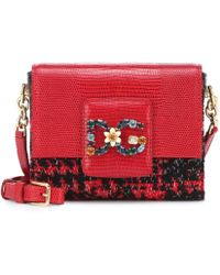 c111dfe906 Lyst - Dolce   Gabbana Sicily Crocodile and Snakeskin Cross-Body Bag