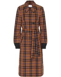 Dorothee Schumacher - Checked Trench Coat - Lyst