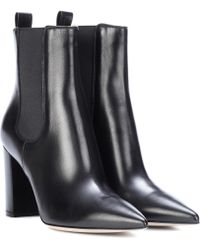 Gianvito Rossi - Myers Leather Ankle Boots - Lyst