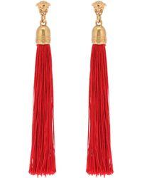 Versace - Medusa Fringe Earrings - Lyst