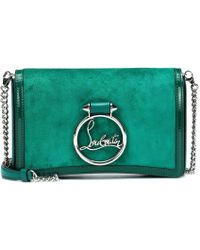 Christian Louboutin Clutch Rubylou in suede e pelle