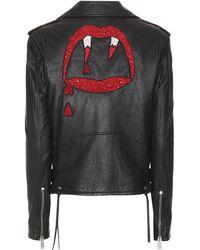Saint Laurent - Classic L01 Blood Luster Leather Jacket - Lyst