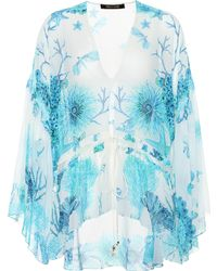 Roberto Cavalli - Floral-printed Silk Top - Lyst