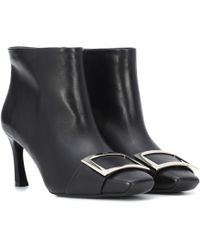 Roger Vivier - Trompette Leather Ankle Boots - Lyst