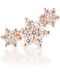 Maria Tash - Ohrring Diamond Flower Garland aus 18kt Roségold mit Diamanten - Lyst