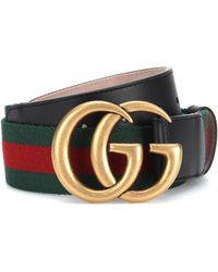 b0cab3ed5 Gucci 40mm Gg Marmont Pearl Buckle Belt in Black - Lyst