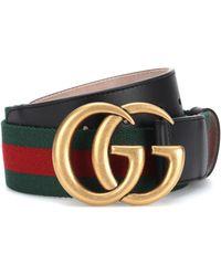 Gucci - GG Marmont Web Belt - Lyst