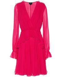Giambattista Valli - Ruffled Silk Dress - Lyst