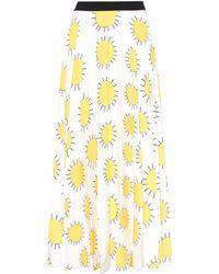 Christopher Kane - Printed Sun Pleated Skirt - Lyst