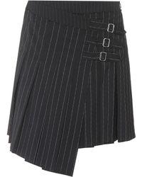 McQ - Stripe Pleated Mini Wrap Skirt - Lyst