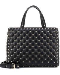 Valentino - Rockstud Spike Leather Tote - Lyst