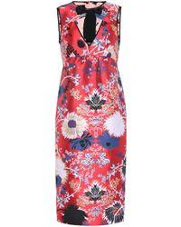 Rochas - Floral Jacquard Minidress - Lyst