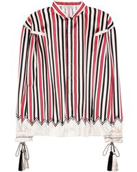 Etro - Striped Silk Shirt - Lyst