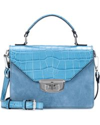 Ganni - Exclusive To Mytheresa. Com – Gallery Embossed Leather And Suede Shoulder Bag - Lyst