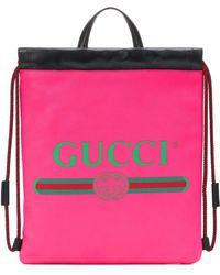 Gucci - Zaino Print in pelle - Lyst 7ea606f2d462