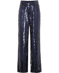 Polo Ralph Lauren - Pantalones flared con lentejuelas - Lyst