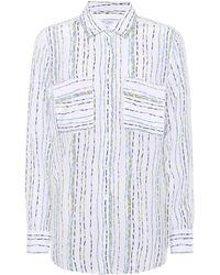 Equipment - Signature Striped Silk Shirt - Lyst