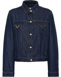 Valentino - Chaqueta de jeans - Lyst