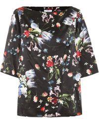 Erdem - Gena Floral Silk Satin Top - Lyst