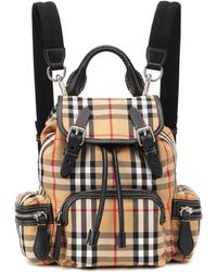 Burberry - The Small Rucksack Checked Backpack - Lyst