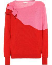Delpozo - Pullover aus Baumwolle und Kaschmir - Lyst