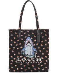 COACH - Sharky Printed Tote - Lyst