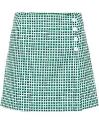 Tory Sport - High-rise Checked Shorts - Lyst