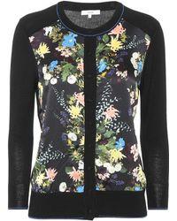 Erdem - Wool And Silk-blend Floral Cardigan - Lyst