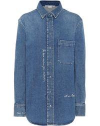 Stella McCartney - Embroidered Denim Shirt - Lyst