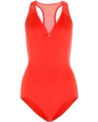 Stella McCartney - Neoprene And Mesh Swimsuit - Lyst