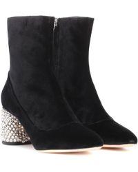 Rochas   Velvet Ankle Boots   Lyst