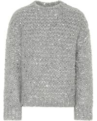 Brunello Cucinelli - Sequined Mohair-blend Sweater - Lyst