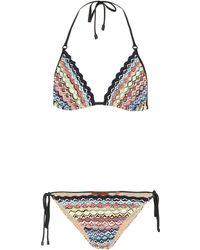 Missoni - Bikini triangle en maille - Lyst