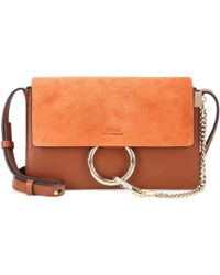 Chloé - Faye Small Suede And Leather Shoulder Bag - Lyst e6f173b532d5a