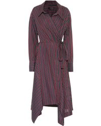 Isabel Marant - Mila Striped Cotton Wrap Dress - Lyst