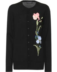 Dolce & Gabbana - Embellished Wool Cardigan - Lyst