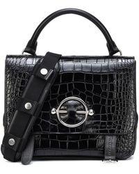 J.W. Anderson Disc Satchel Leather Shoulder Bag in Natural - Lyst 129e76192eefa