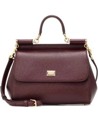Dolce & Gabbana - Miss Sicily Leather Shoulder Bag - Lyst