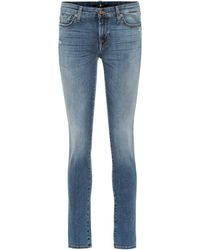 7 For All Mankind - Mid-Rise Skinny Jeans Pyper - Lyst