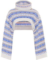 Stella McCartney - Cropped-Pullover aus Wolle - Lyst
