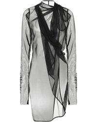Rick Owens - Lilies Mesh Wrap Top - Lyst