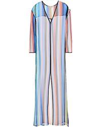 Diane von Furstenberg - Striped Silk Cover-up - Lyst