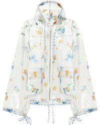 Ganni - Petunia Floral-printed Raincoat - Lyst