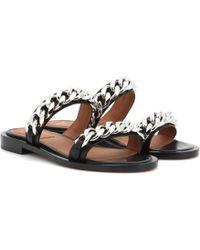 Givenchy - Embellished Leather Slides - Lyst