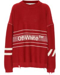 Off-White c/o Virgil Abloh - Oversized Wool Sweater - Lyst