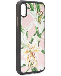 Dolce & Gabbana - Floral Leather Iphone Xr Case - Lyst