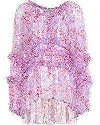 Carolina Herrera - Printed Silk Blouse - Lyst