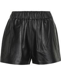 Tibi - Tissue Leather Shorts - Lyst