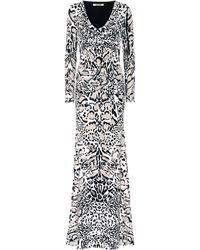 Roberto Cavalli - Animal Print Long Dress - Lyst adfe72c62