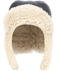 Isabel Marant - Airy Shearling-lined Leather Hat - Lyst